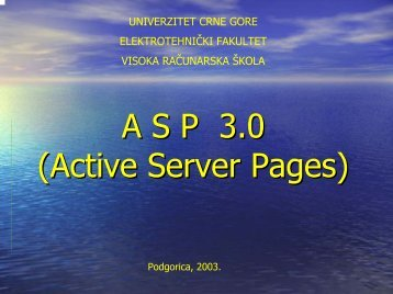 A S P   3.0 (Active Server Pages)