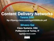 Content Delivery Networks - the Netgroup at Politecnico di Torino