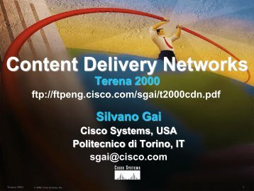 Content Delivery Networks - the Netgroup at Politecnico di Torino