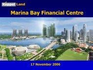 Presentation on MBFC - Keppel Land