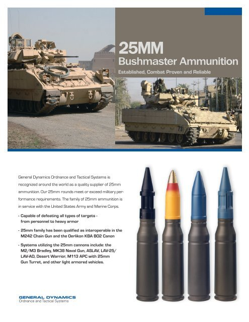 Bushmaster - General Dynamics Ordnance and Tactical Systems