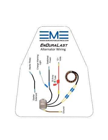 EnDuraLast Alternator Wiring - Euro MotoElectrics