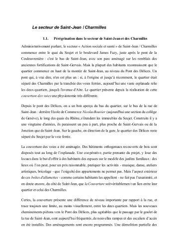 Le secteur de Saint-Jean / Charmilles - les-idees.ch