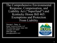 The Comprehensive Environmental Response, Compensation, and ...