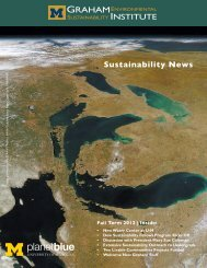 Fall 2012 - Graham Sustainability Institute - University of Michigan