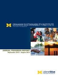 annual progress report - Graham Sustainability Institute - University ...