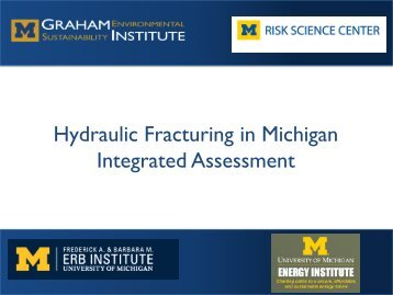 Hydraulic Fracturing - Graham Sustainability Institute - University of ...