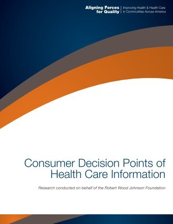 Consumer Engagement - WHA Quality Center