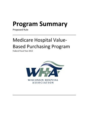 Medicare VBP Final Rule - WHA Quality Center