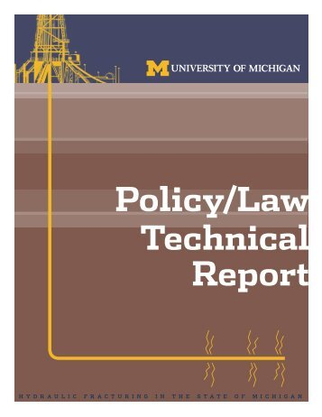 Policy/Law Technical Report - Graham Sustainability Institute