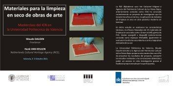 CURSO UPV LIMPIEZA EN SECO - Grupo Español IIC