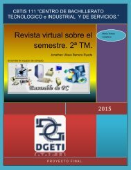 Revista virtual sobre el semestre. 2ª TM.