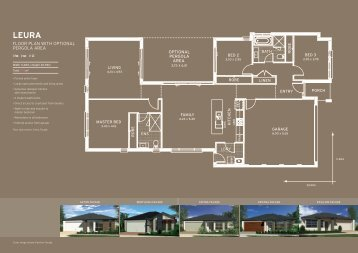 FLOOR PLAN WITH OPTIONAL PERGOLA AREA