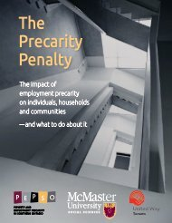 The Precarity Penalty: The Impact of Employment Precarity on Individuals, Households and Communities