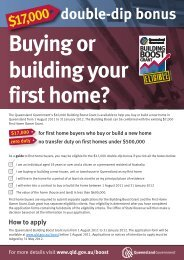 first home buyers - Holloway Homes