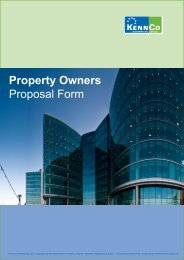 Property Owners Proposal Form - Kennco Underwriting