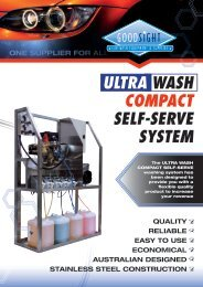ultra wash COMPaCt self-serve systeM - Good Sight