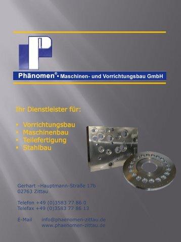 Firmenpräsentation - Phänomen® • Maschinen- & Vorrichtungsbau ...