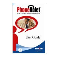 PhoneValet Manual for Version 1.1