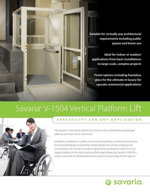 Savaria V-1504 Vertical Platform Lift
