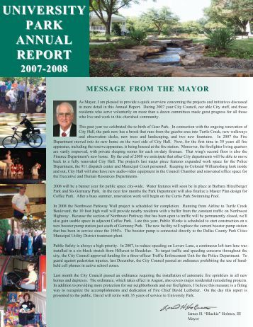 2007 Annual Report - City of University Park