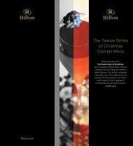 The Twelve Drinks of Christmas Cocktail Menu