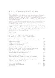 Speisekarte, Abend. Sommer 2012