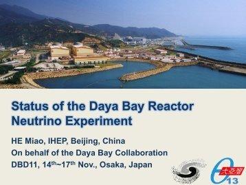 Status of the Daya Bay Reactor Neutrino Experimen