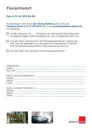 Einladung zum Pharmatag - pharmaplace AG