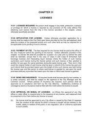 Chapter 31 – Licenses - City of Platteville