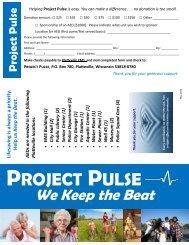 Project Pulse Brochure - City of Platteville