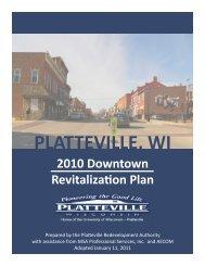 Downtown Revitalization Plan - City of Platteville