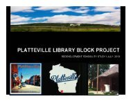 Library Block Redevelopment Feasibility Study - City of Platteville