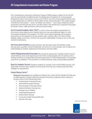 ATI Comprehensive Assessment and Review Program - ATI Testing