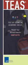 TEST OF ESSENTIAL ACADEMIC SKILLS TEAS® for ... - ATI Testing