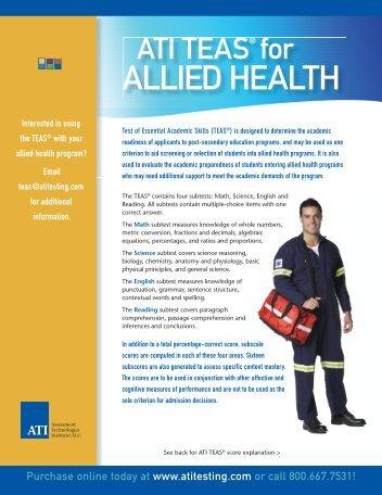 ALLIED HEALTH - ATI Testing