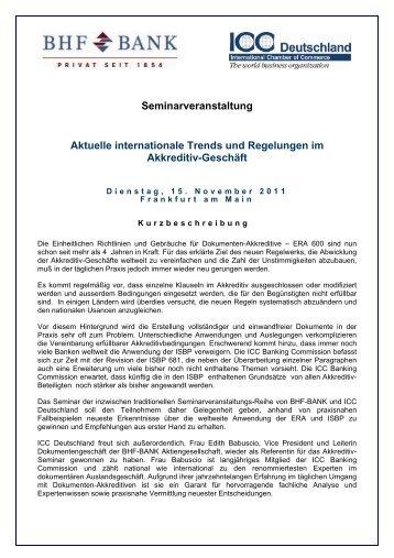 Aktuelle internationale Trends und Regelungen ... - ICC Deutschland