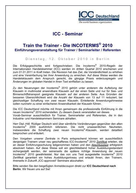 1dc5ab32a71cf9 ICC - Seminar Train the Trainer - Die ... - ICC Deutschland