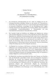 Statuten für den Ausschuss des deutschen ICC ... - ICC Deutschland
