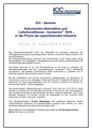 in der Praxis der exportierenden Industrie - ICC Deutschland