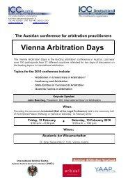 Vienna Arbitration Days - ICC Deutschland