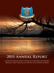 2011 Annual Report - Oklahoma Department of Wildlife Conservation