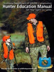 Hunter Education Manual - Oklahoma Department of Wildlife ...