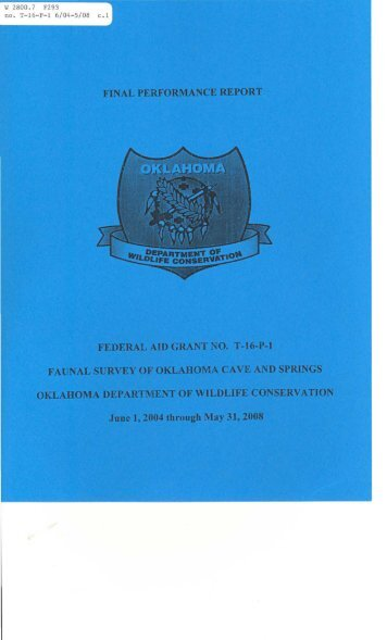 W 2800.7 F293 no. T-16-P-l 6/04-5/08 - Oklahoma Department of ...