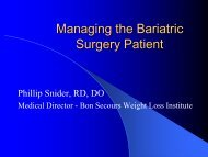 Managing the Bariatric Surgery Patient - Virginia Osteopathic ...