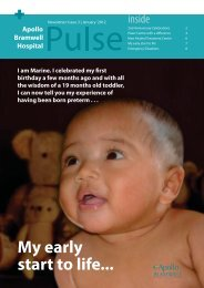 Pulse Newsletter - Issue 3 - January 2012 - Apollo Bramwell Hospital