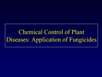 General Considerations Related to Application of Fungicides