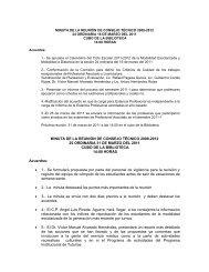MINUTA DE LA REUNIÓN DE CONSEJO TÉCNICO 2009-2012 25 ...