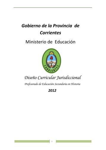 Gobierno de la Provincia de Corrientes Ministerio de Educación ...