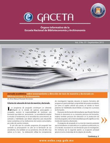 DESCARGAR eGACETA 37 y 36 - Escuela Nacional de ...